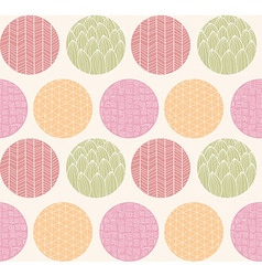 Seamless pattern with ornamental circles and lines vector image vector image