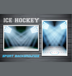 Set Backgrounds of ice hockey arena vector image