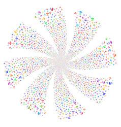 Space antenna fireworks swirl flower vector