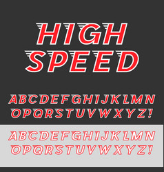 speed dynamic italic font vector image vector image