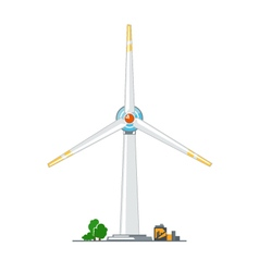 Wind Turbine on White Background vector image