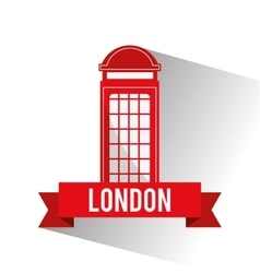 Isolated london telephone design vector