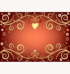 valentine pink background vector image