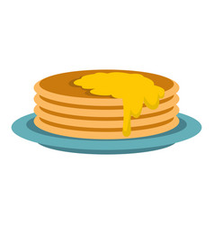 Pancakes icon flat style vector
