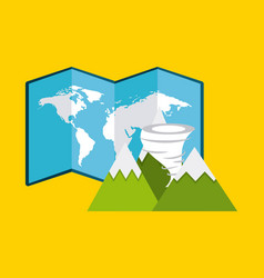 world planet earth community vector image