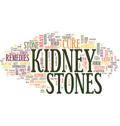 The kidney stones miracle cure text background vector