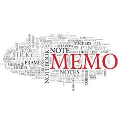 Memo word cloud concept vector