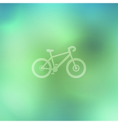 Bicycle on abstract background vector