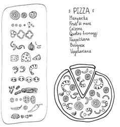 PizzaItaliana10 vector image