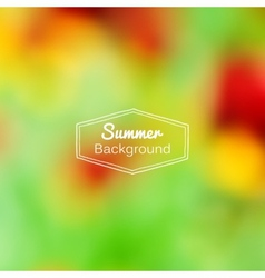 Blurred nature summer green and red vector