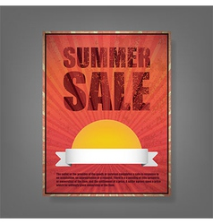 Report summer sale vintage card vector