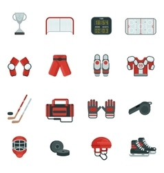 Hockey decorative icon set vector