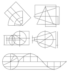 Scheme of geometrical objects vector