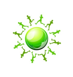green runners vector image