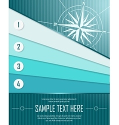 Blue abstract background with banners and windrose vector