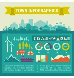 Infographics town and village vector