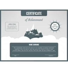 Certificate of achievement template certification vector