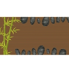 Spa salon banner template bamboo and pebble rocks vector