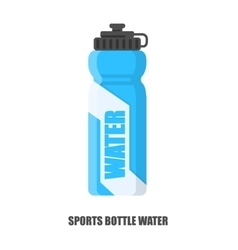 flat sports bottle water vector image