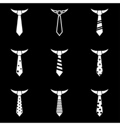 Black tie icon set vector