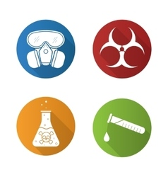 Chemical industry icons vector
