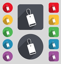 Army chains icon sign a set of 12 colored buttons vector