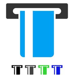 Atm terminal flat icon vector