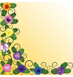 background with pansies vector image vector image