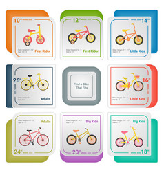 bicycle infographics isolated on a white vector image vector image