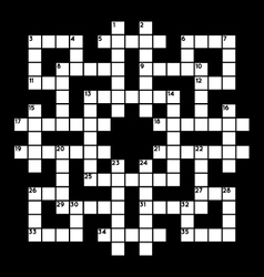 blank crossword vector image