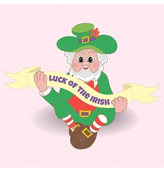 Card Luck of the Irish St Patricks day vector image