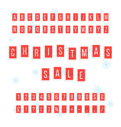 Christmas sale from red scoreboard vector