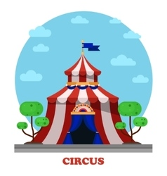 Circus marquee or tent front view vector image