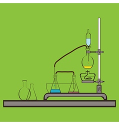 Cokor icon with chemistry laboratory fla vector