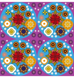 Colorful floral pattern for textile digital vector