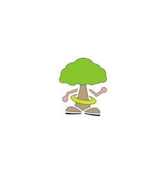 Ecological wood character vector
