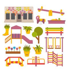 flat playground vector image