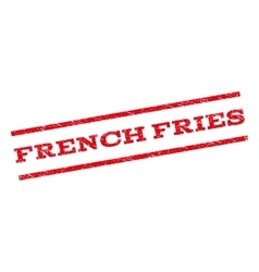 French Fries Watermark Stamp vector image vector image
