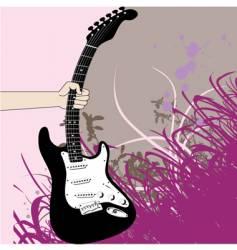 giutar hand vector image vector image