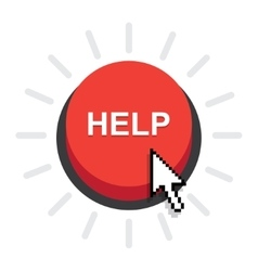 Help button icon vector image vector image