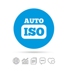 Iso auto photo camera sign icon settings symbol vector