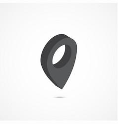 location isometric icon 3d vector image