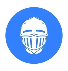 Medieval helmet icon black Single weapon icon vector image vector image