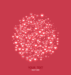 Modern circle like heart icons background vector