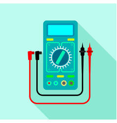 Multimeter voltmeter icon flat style vector