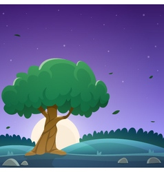 Night countryside landscape vector