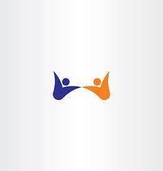people dance happy icon logo vector image vector image