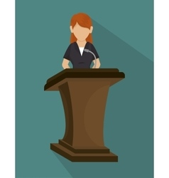 Podium speech icon vector