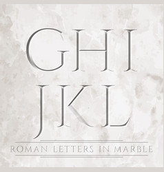 roman letters vector image vector image