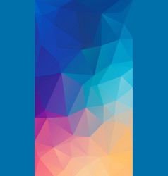 vertical flat polygonal background for your vector image vector image